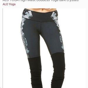 ALO Yoga Pants - ALO yoga high waist goddess Crystals leggings